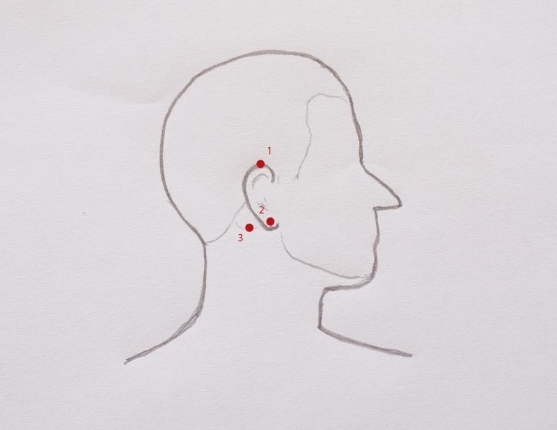 punkty marma ucho